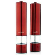 Wolfgang Puck 2-pack Stainless Steel Battery-Power Grinding Mills Various Colors