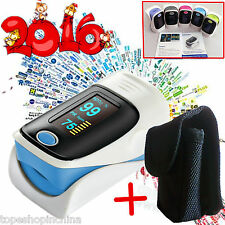 +Carry case**OLED Fingertip Pulse oximeter oxymeter spo2,PR monitor Blood Oxygen