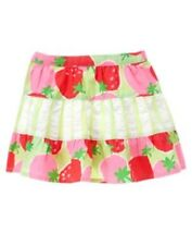 GYMBOREE STRAWBERRY SWEETHEART STRAWBERRY N STRIPE SKIRT 3 6 12 3T 5T NWT