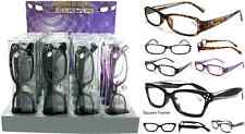 Fashion Plastic Reading Glasses  with Rhinestones with Plastic Case + FREE GIFT!