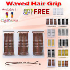 New 24/36 Long Large 7cm Small 5cm Kirby Bob Waved Hair Grips Clips Pins Slides