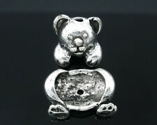 Wholesale HOT! Jewelry Bead Caps Set Bear Finding Fit 14-18mm beads