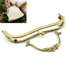 Wholesale Jewelry Purse Bag Metal Frame Clasp Lock Handle Bronze Tone 21x15cm