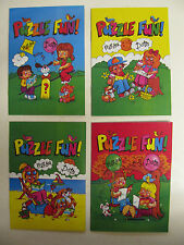 Mini Puzzle Fun Book Travel A6 Size Pictures Drawing Dot To Dot Line Fun Kids BN