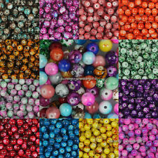 100pcs 8mm Chic Glass Round Spacer Loose Beads Pick From 20 Colors-1 Or Mixed