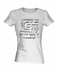 BETTER AT TRAMPOLINING LADIES WHITE T-SHIRT TOP BRAND NEW SIZES XS-2XL