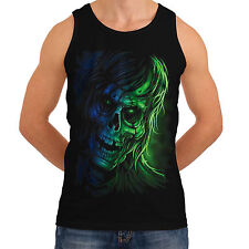 New Grim Ghost Reaper Pirate Crow Mens Women Tank T-Shirt Ship Skull Top *th222