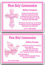 Personalised 1st First Holy Communion Invitations Girl x10