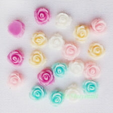 PROMOTION Cute Resin Sunflower Rose Flowers Flatback Cabochons DIY Decoration