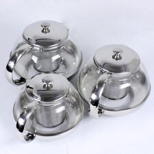 Stainless Steel Glass Tea Pot with Leaf Strainer Infuser Teapot 600/800/1050ml
