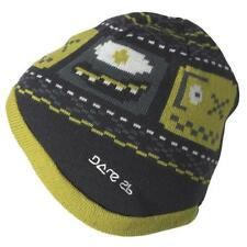 Dare2b Kids 'Flipside' Grey and Green Winter and Ski Wear Reversible Beanie Hat.