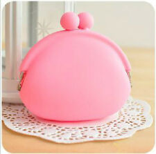 Lovely Girls Candy Silicone Coin Bag Rubber Coin Purse Silicone Money Bag Wallet