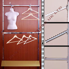 Garment Rail Twin Slot Upright Clothes Display and Shelving Budget System