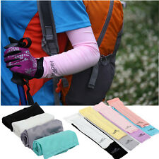Outdoor Sport Basketball Golf Cover Cooling Stretch Sun UV Protection Arm Sleeve