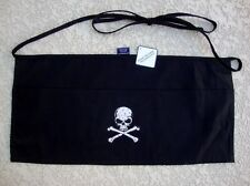 Waist Money Servers Apron With Pockets and Skull Crossbone Design
