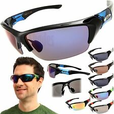X-Loop Sports Half Rim Wrap Sunglasses Mens Golfing Cycling Running Fishing New
