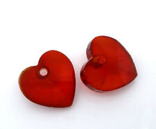 Wholesale DIY Jewelry Red Crystal Quartz Heart Drop Beads 6202 10x10mm