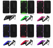 Belt Clip Holster + Hybrid Armor Cover Case for  ZTE Boost Max N9520 Phone