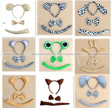 Cute Animal Ears Headband Party Costume Cosplay 3PC Set Headband HOME120