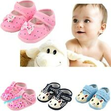 Baby Boy Girls Shoes Kids First Walkers Cute Bear Bow Butterfly Design 14 Styles