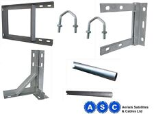 TV AERIAL POLE BRACKET TV WALL BRACKET TV ARIAL MAST GALVANISED BRACKET FREEVIEW