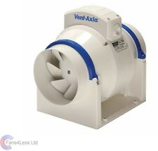 """Vent Axia ACM150S ACM150T In Line Mixed Flow Bathroom Extractor Fan Timer Std 6"""""""