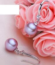 Natraul 7.5-8mm AAAA top rating pearl earrings 925s dangle(5color can choose)