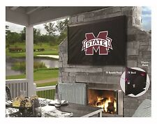 Mississippi State Bulldogs NCAA Black Outdoor TV Cover by HBS