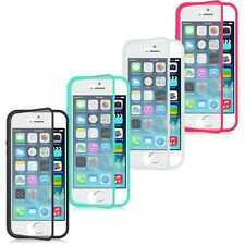 For Apple iPhone 5 & 5S TPU WrapUp Cover Case w/Built in Screen Protector Flap