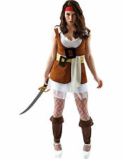 Ladies Sexy Pirate Wench Caribbean Jackie Finch Fancy Dress Outfit Costume