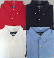 NEW POLO RALPH LAUREN MEN'S SHORT SLEEVE POPLIN COTTON CLASSIC FIT DRESS SHIRT