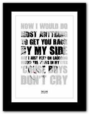 THE CURE Boys Don't Cry #3  ❤ song lyrics typography poster art print - A1 A2 A3