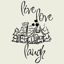 LIVE LOVE COTTAGE Wall Decal Wall Sticker Home and Living Wall Art Decal Quote
