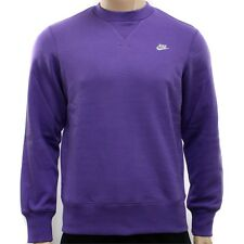 Men's New Nike Sweater, Crew Sweatshirt, Jumper, Pullover - Purple