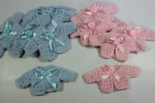 new 12 baby shower baptism party favors miniature crochet sweater blue pink