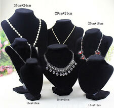 New Velvet Display Bust Stand for Necklace Earring Jewelry 2Colors #UK EF
