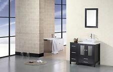"DESIGN ELEMENT 36"" ARLINGTON DEC072A MODERN SINGLE VANITY BATHROOM CABINET SET"