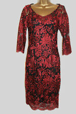 NEW PER UNA MARKS AND SPENCER RED LACE  Party DRESS 8 10 12 14 16 18 20 22