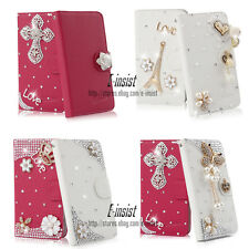Bling Diamond Wallet PU Leather Case Cover For Samsung Galaxy S Advance i9070