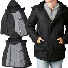 Mens St. GOLIATH BLEP Trench Coat JACKET Detachable Hood Winter Fashion Long NEW