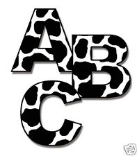 Barnyard Cow Alphabet Letters Wall Art Decals Personalize Name Kids Room Decor