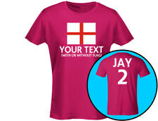 England Your Text Womens T-Shirt (12 Colours)