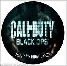 EDIBLE CAKE CUPCAKE TOPPERS DECORATION BIRTHDAY OCCASION CALL OF DUTY COD