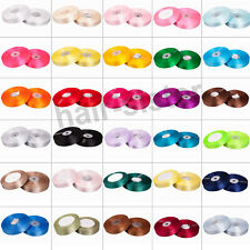Free shipping 25YDS satin ribbon wedding craft sewing decor various color&width