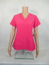 """Med Couture """"GOLD"""" Scrub Top. Style 8451. Pink Sorbet / Splash. *NEW* Free Ship"""