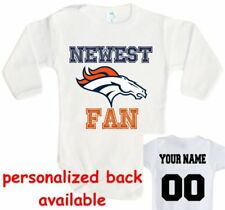 Baby bodysuit Newest fan Denver Broncos football NFL One Piece onesie jersey