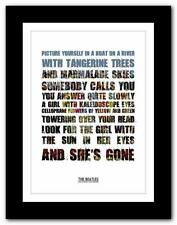 THE BEATLES - Lucy In The Sky ❤ song lyrics typography poster art print A1 A2