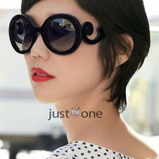 New Black Unique Design Ladies Womens Girls Vintage Large Fashion Sunglasses