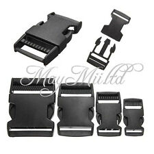 S New 10pcs Plastic Side Quick Release Clasp Buckles Webbing Strap 20/25/38/50mm