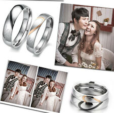 Classic Heart stainless steel Titanium Marriage proposal Wedding Ring for one